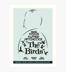 The Birds, Hitchcock Movie Poster, Horror Film, Classic Movie, Old Movie, Gli Uccelli Art Print