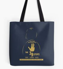 The 39 steps, Alfred Hitchock, movie poster, Thriller, classic movie, classic film, old movie Tote Bag
