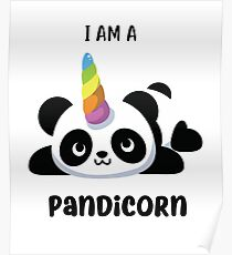 Pandicorn - Ich bin ein Pandicorn Cute Panda Einhorn Poster