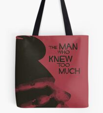 """Alfred Hitchock, movie poster, """"The man who knew too much"""", Doris Day, James Stewart, classic film, old movie, playbill, affiche, Tote Bag"""
