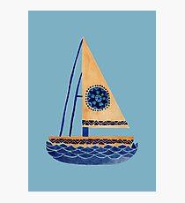 The Tribal Sailboat Photographic Print