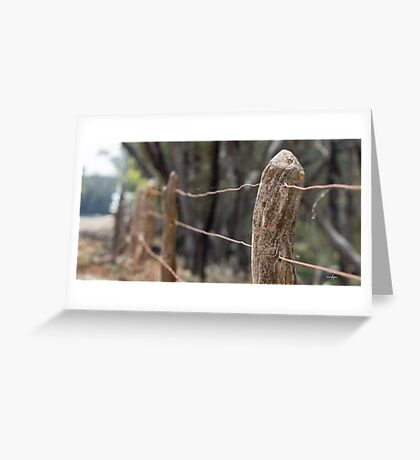 The East Boundary FEnce Greeting Card