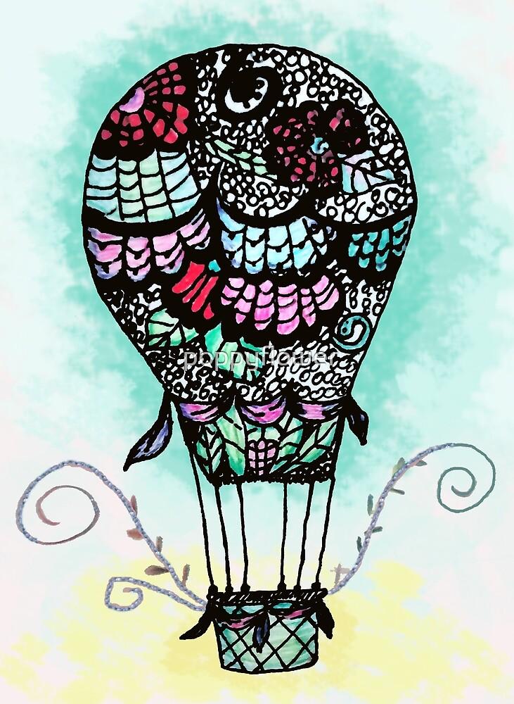 Flower Air Balloon by poppyflower