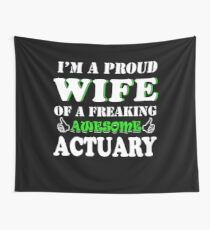 Actuary's Wife Gifts - Mother's Day Birthday Christmas Valentine Gifts Wall Tapestry