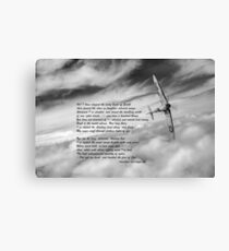 High Flight Spitfire solo Canvas Print