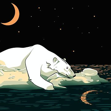 Polar Bear and the Moon #giftoriginal  by lents