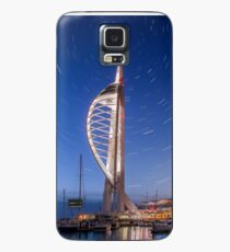 Spinnaker Tower With Star Trails Case/Skin for Samsung Galaxy