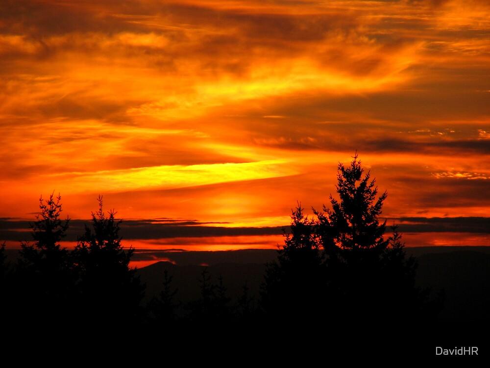 A Fiery Sunset by DavidHR