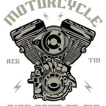 Motorcycle T-Shirt by webeller