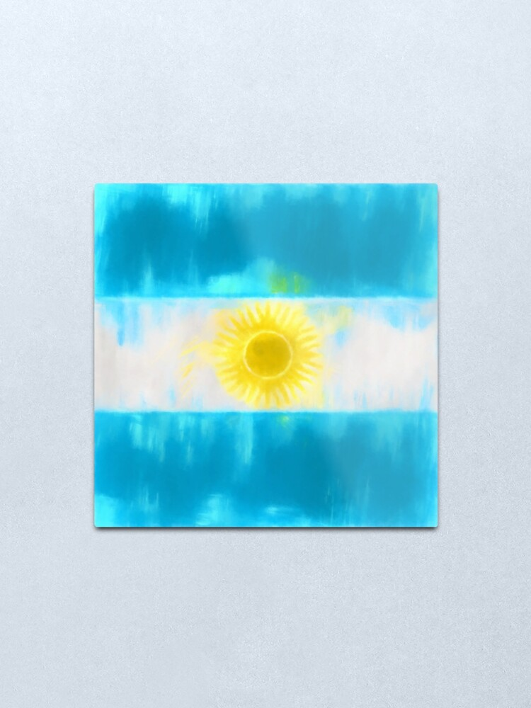 Alternate view of Argentinian Flag No. 1, Series 1 Metal Print