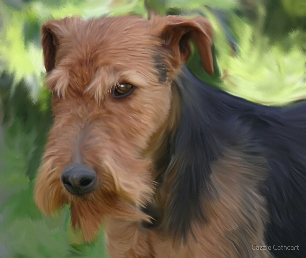 Airedale.. by Cazzie Cathcart