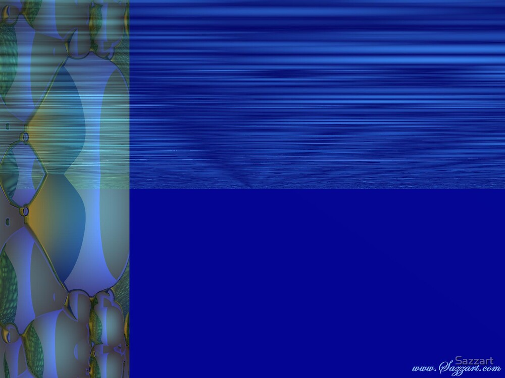Abstract - FreakyDeaky in Blue by Sazzart