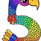 Colourful Bird Number 5 by Shelly Still