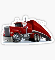 Cartoon retro Christmas truck Sticker