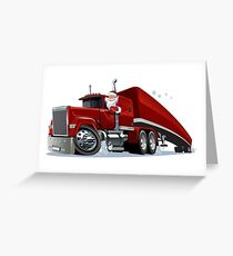 Cartoon retro Christmas truck Greeting Card