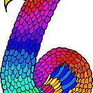 Colourful Bird Number 6  by Shelly Still