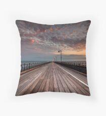 Sunrise On Ryde Pier Throw Pillow