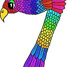 Colourful Bird Number 7 by Shelly Still