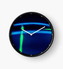 Neon Blue Green  Clock