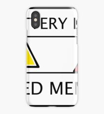 Battery Low - This Geek Needs Memes iPhone Case