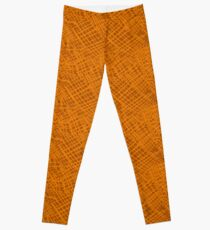 Alien Cuneiform Cloth - Orange Leggings