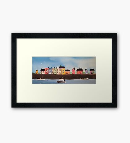 Harbourside Houses 2 Framed Print