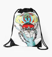 Peacock spider Maratus volans Drawstring Bag