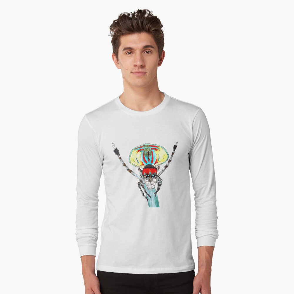 Peacock spider Maratus volans Long Sleeve T-Shirt Front