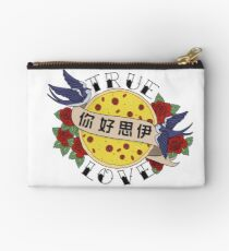 Pizza Love Tattoo Zipper Pouch