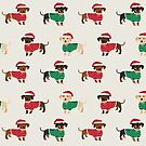 Dachshund christmas sweater cute holiday gifts doxie dachsie dog breed by PetFriendly
