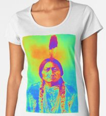 SITTING BULL Women's Premium T-Shirt