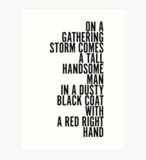 Red Right Hand - Peaky Blinders Art Print