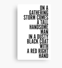 Red Right Hand - Peaky Blinders Canvas Print
