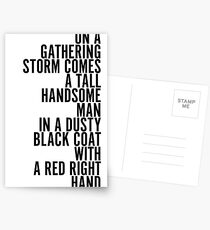 Red Right Hand - Peaky Blinders Postcards