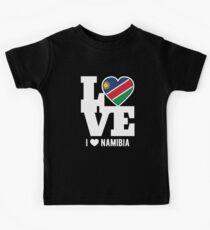 Love Namibia T-Shirt Patriotic Namibian Expat Kids Tee