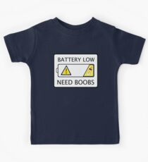 Newborn Baby Battery Low Need Boobs Gag Gift Kids Clothes