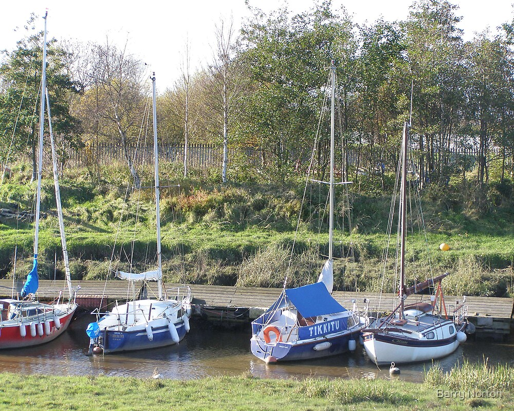 More Boats at Lytham Creek by Barry Norton