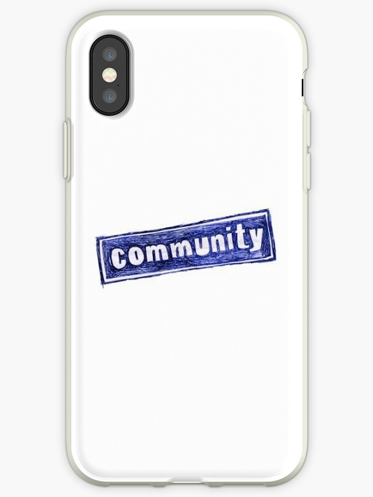 'Community TV Show Logo' iPhone Case by JohnnySniper95