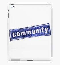 Community TV Show Logo iPad Case/Skin