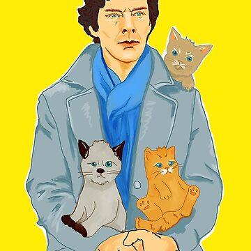 Sherlock and kittens by olgapanteleyeva