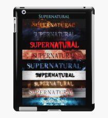 Supernatural intro seasons 1-10 iPad Case/Skin