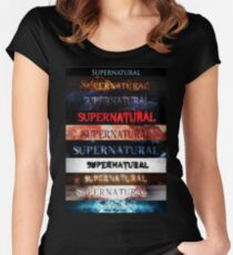 Supernatural intro seasons 1-10 Women's Fitted Scoop T-Shirt
