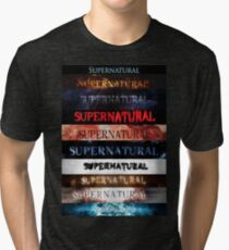 Supernatural intro seasons 1-10 Tri-blend T-Shirt