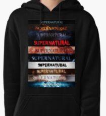 Supernatural intro seasons 1-10 Pullover Hoodie