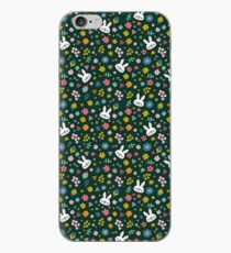 Bunny Wearing a Scarf and Flowers iPhone Case