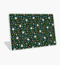 Bunny Wearing a Scarf and Flowers Laptop Skin
