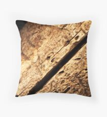 Conopthoric tunnels Throw Pillow