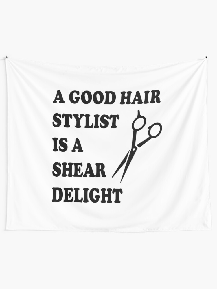 Funny Hairstylist Hairdresser Barber Quote, Beauty Hair Salon | Wall  Tapestry