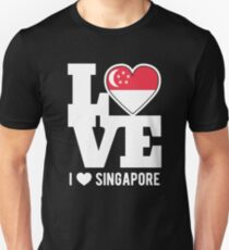 Love Singapore T-Shirt Patriotic Singaporean Expat Unisex T-Shirt