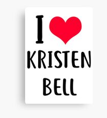 I love Kristen Bell Canvas Print